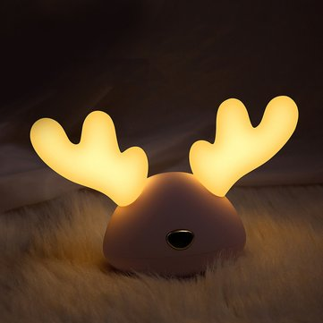Colorful USB LED Night Light Cartoon Deer Lamp for Children Christmas