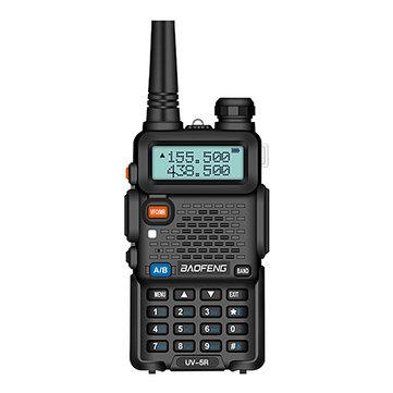 BAOFENG UV-5R Upgrade 8W 128Channels UV Dual Band Two-way Handheld Radio Walkie Talkie Outdoor LED Flashlight FM Radio Hiking Driving Civilian Intercom