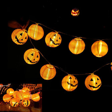 1.5M 4M Halloween Pumpkin Lantern Warm White LED String Light Night Lamp Festival Home Party Decors