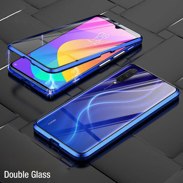 Bakeey 360º Front+Back Double-sided Full Body 9H Tempered Glass Metal Magnetic Adsorption Flip Protective Case For Xiaomi Mi 9 Mi9 Lite  / Xiaomi Mi CC 9