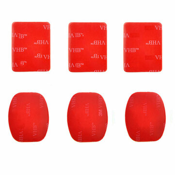 PULUZ 3 Flat Mount Stickers 3 Curved VHB Adhesive Pad Stickers for Gopro Sjcam Xiaomi Yi Action Camera