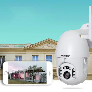 INQMEGA PTZ381 HD 1080P PTZ 360 ° panoramatická vodotěsná IP kamera IR noční verze obousměrný zvuk