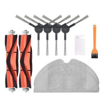 10pcs Replacements for Xiaomi Mijia 1C Vacuum Cleaner Parts Accessories 4*Side Brushes 2*Main Brush 2*Rags 1*Yellow Brush 1*White Brush Non_original