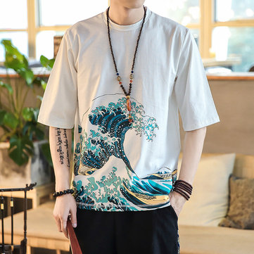 Chinese Style Printing Short-sleeved T-shirts