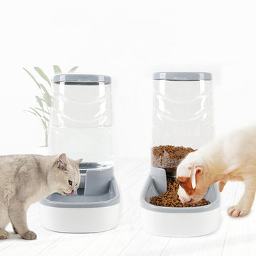 3.8L Large Automatic Pet Food Drink Dispenser Dog Cat Feeder Water Bowl Dish Pets Automatic Waterer Food Feeder Dispenser