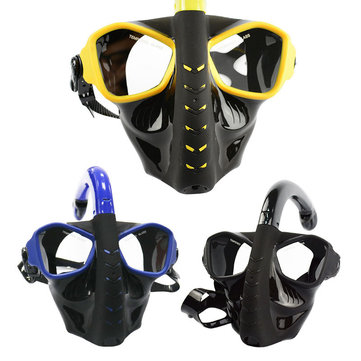 Adults Full Face Dry Snorkeling Mask Toughened Glass Shatterproof Anti-fog Diving Mask