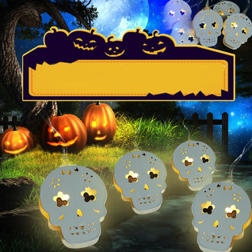 Halloween Skeleton Warm White Colorful LED String Light Holiday Lamp Outdoor Home Decor Prop