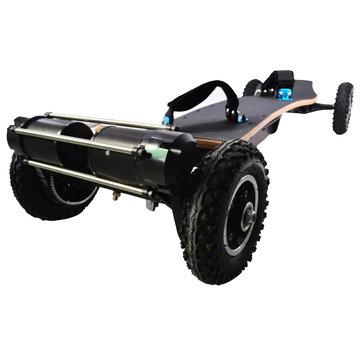 JKING H2C-01 2x1650W 36V 10AH 10S5P Brushless Motor Dual Belt Motor Off-road Skateboard 10000mAh Battery 4-wheel Electric Skateboard 200kg Payload 38km/h Top Speed