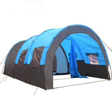 8_10 Person Big Tent Waterproof Large Room Family Tent Outdoor Camping Garden Party Sunshade Awning