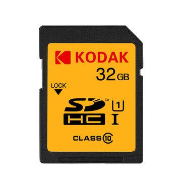 KODAK SD Memory Card U1 U3 Class 10 Support 1080P HD 32GB 64GB 128GB SDHC Memory Card for Digital SLR/HD Camera