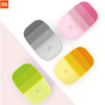 Xiaomi inFace Electric Deep Facial Cleaning Massage Brush Sonic Face Washing IPX7 Waterproof Silicone Face Cleanser From Xiaomi Youpin