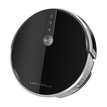 LIECTROUX C30B Smart Robot Vacuum Cleaner 4000Pa Suction Navigation with Memory WiFi Application Electric Water Tank Brushless Motor