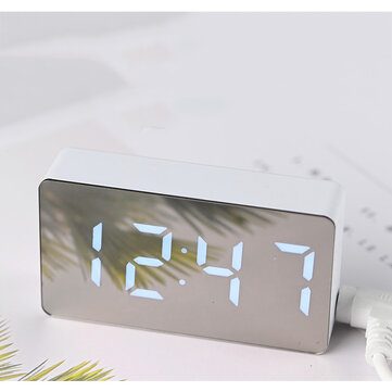 CITIPLUS OS-001 Creative Digital Alarm Clock LED Table Clock Electronic Time Date Temperature Display Home Decorations