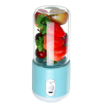 Bakeey 260ml USB Rechargeable Portable Electric Juice Cup Juice Blender Fruit Mixer Six Blade Mixing Machine Smoothies Baby Food Blender Extractor With Lid