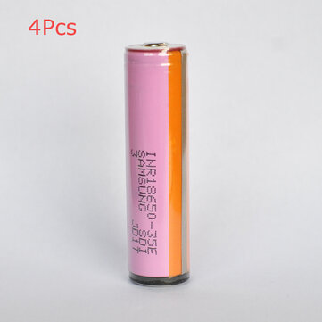 4Pcs SAMSUNG INR18650-35E 18650 Power Battery 3500mAh 20A High Drain Rechargeable Li-ion Battery (Protected Button Top) For Flashlight E Cig Electric Bike
