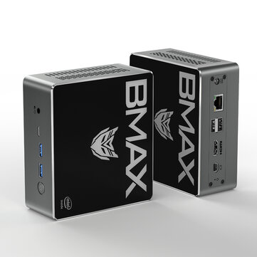 Bmax B4 Pro Mini PC Intel Core i3_8145U 8GB DDR4 256GB NVMe SSD with Two Channel Speaker Intel 9th Gen UHD Graphics 620 Dual Core 2.1GHz to 3.9GHz BT5.0 HDMI Type C Win10 WiFi
