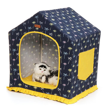 Buy Puppy Pet Cat Dog Soft Warm Tent Bed Cushion Sleeping House Washable And Detachable with Litecoins with Free Shipping on Gipsybee.com