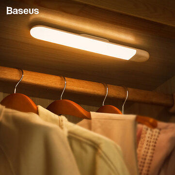 Buy Baseus Human Body Induction Cabinet Light USB Rechargable Bedside Lamp LED White/Warm Night Light For Wardrobe Closet Stairs with Litecoins with Free Shipping on Gipsybee.com
