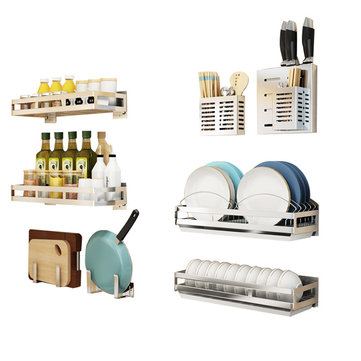 How can I buy Wall Hanging Storage Shelf Rack Organizer Kitchen Dishes Spice Knife Holder with Bitcoin
