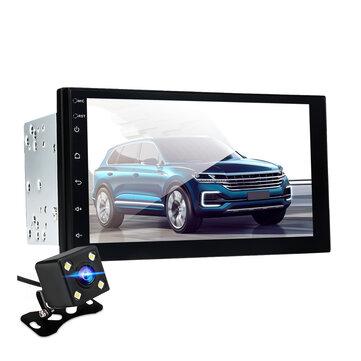 एंड्रॉइड 8.0 कार स्टीरियो रेडियो 2.5 डी 2 दीन क्वैड कोर 1 + 16 जी GPS वाईफ़ाई एफएम के लिए 7 इंच रीम कैमरा के सा