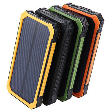 Bakeey 20000mAh Large Capacity LED Light Solar Power Bank Case For iPhone X XS HUAWEI P30 Oneplus 7 Xiaomi Mi8 Mi9 Samsung S10+