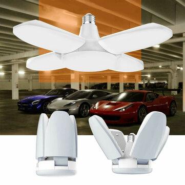 AC85-265V E27 60W Universal Deformable Foldable Garage Lamp 235LED Ceiling Adjustable Shop Light Bulb