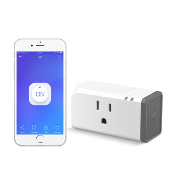 SONOFF® S31 15A Smart Plug Energy Monitoring US Version WIFI Switch Upgraded Compact Design Support Google Home Alexa IFTTT