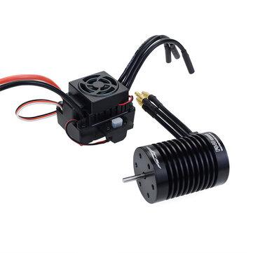 Aşmak hobi Su Geçirmez f540 V2 sensörsüz Fırçasız Motor 60a esc ile 1/10 rc araçlar