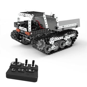 $37.38 for SWRC 007 934PCS 2.4G 10CH Stainless Steel DIY RC Car Dump Truck Construction Model Vehicles
