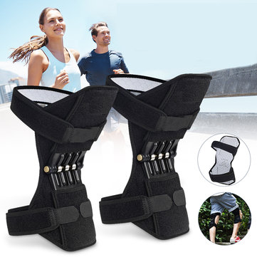 1 Pair Powerful Rebound Spring Force Knee Pad Knee Support Patellar Joints Booster Pain Relief Sports Training Protector