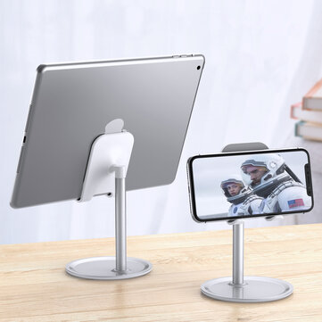 Floveme Aluminum Alloy Desktop Phone Holder Tablet Stand For 4.7-10.5 inch Smart Phone Tablet For iPhone For iPad For Samsung For POCO X3 NFC