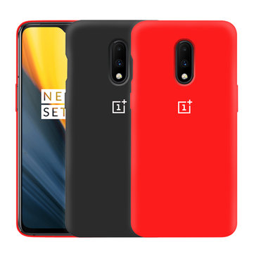 For OnePlus 7 Case Bakeey Original Logo Ultra Thin Anti-Scratch Liquid Silicone Soft Protective Case