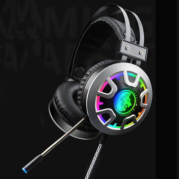 RGB Luminescent 3.5mm Audio Jack Wired Gaming Headphone Stereo Sound Headset With LED Microphone Audio Cable
