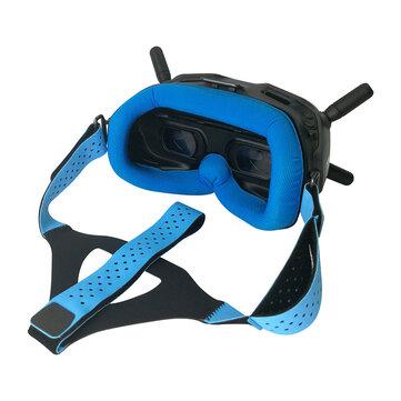WLYL Faceplate Abu-abu / Hijau / Biru untuk DJI Digital FPV Google Face Plate Penggantian Eye Pad Lycra Kain ramah kulit