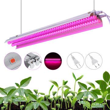 96LED Grow Light Tube Full Spectrum Indoor Plant lamp Greenhouse Double Tube