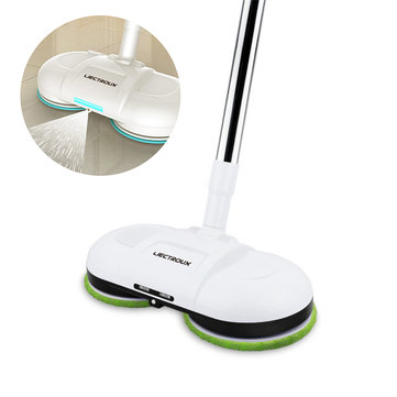 LIECTROUX F528A Cordless Robot Vacuum Cleaner Electric Mop with Wax Water Mop Wet Floor Cleaning Robot LED Light