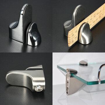 Metal Adjustable Shelf Holder Bracket Glass Wood Shelves