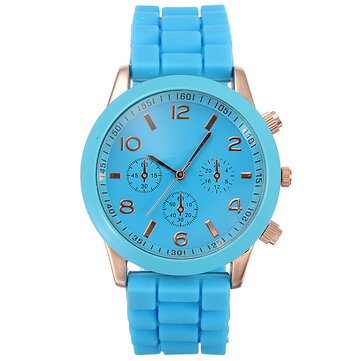 Unisex Silicone Rubber Jelly Gel Candy Quartz Sports Watch