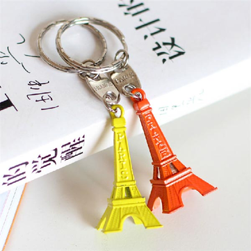 Mini Colorful Candy color Metal Eiffel Tower Keychain