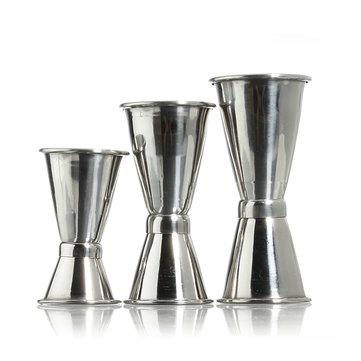 Stainless Steel Bar Jigger Drink Cocktail Liquor Bartender Measuring Double Shot Delicate Bar Tools
