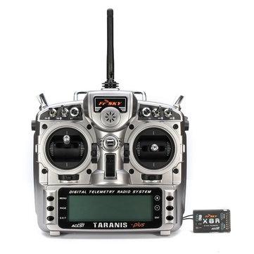 Máy phát gốc FrSky 2.4G ACCST Taranis X9D Plus với đầu thu X8R cho RC Drone FPV Racing