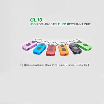 NEXTORCH GL10 MICRO USB Rechargerable LED Keychain Light Six Color