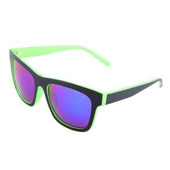 पुरुषों की महिलाएं ग्रीन रेड फ़्रेम कोटिंग राल फ़्रेम UV400 धूप का चश्मा