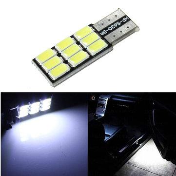 T10 9smd 5630 LED coche luz blanca canbus error bombilla de reemplazo gratuito