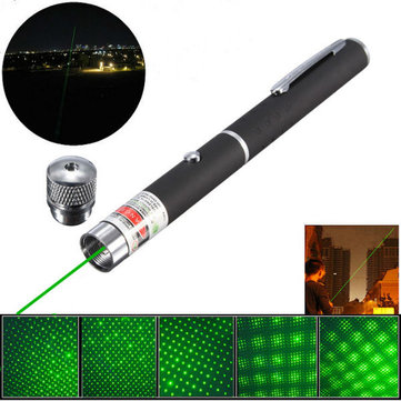 5-in-1 532nm Powerful All Star Green Laser Pointer Pen + Star Cap for sale in Litecoin with Fast and Free Shipping on Gipsybee.com