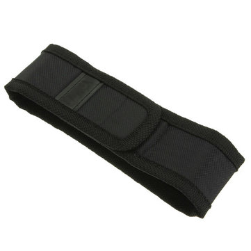 Black Holster Cover Pouch for LED Flashlight Torch 150mm x 30mm