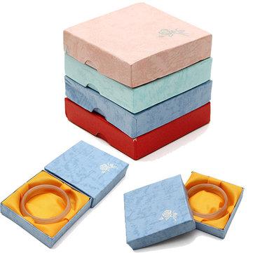 מרובע נייר לוח צמיד Bangle תכשיטים מתנה תיבת אחסון מקרה