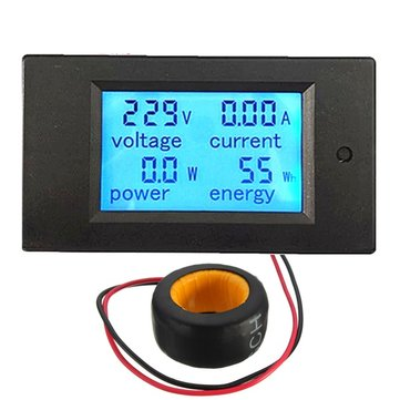 Geekcreit 100a 22000w Power Monitor Module AC Meter Panel 45-65hz Test Voltage