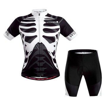 Los wosawe mangas cortas que van en bicicleta el ciclismo del jersey que viste la moto de la bicicleta del juego satisfacen el esqueleto