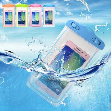 Universal 6 inch Fluorescence Luminous Transparent Waterproof Bag Under Water Pouch